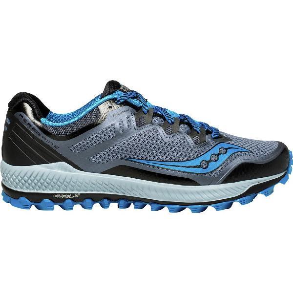(取寄)サッカニー メンズ ペレグリン 8トレイル ランニングシューズ Saucony Men's Peregrine 8 Trail Running Shoe Black/Grey/Blue