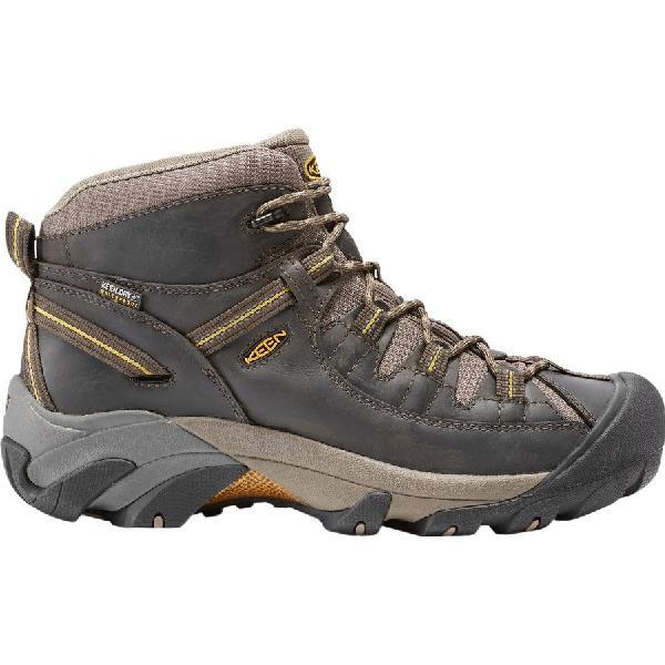 (取寄)キーン メンズ ターギー 2 ミッド ハイキング ブーツ KEEN Men's Targhee II Mid Hiking Boot Black Olive/Yellow