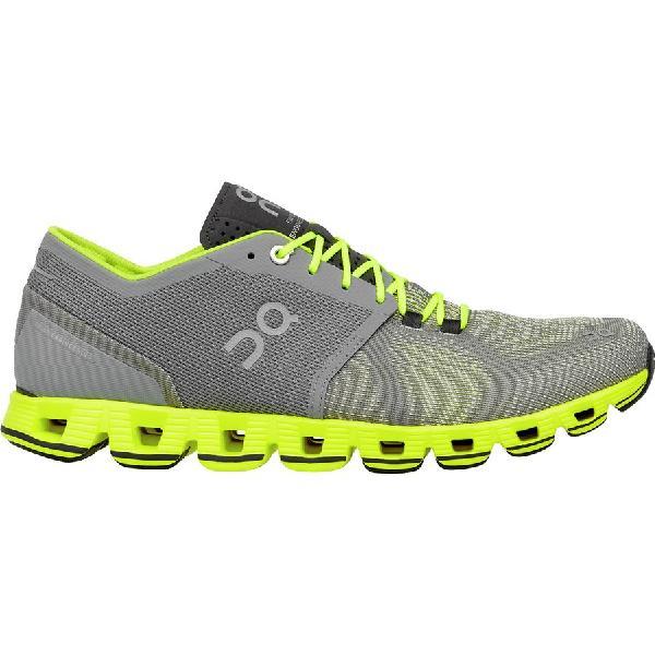 (取寄)オン フットウェアー メンズ クラウド X ランニングシューズ On Footwear Men's Cloud X Running Shoe Grey/Neon