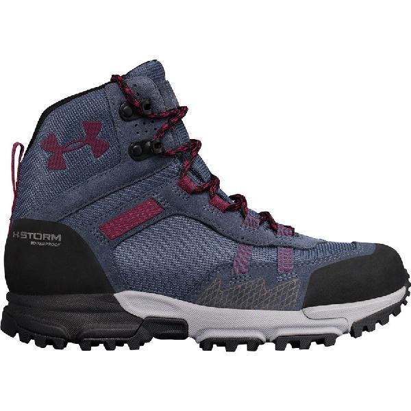 (取寄)アンダーアーマー レディース ポスト キャニオン ミッド WP ハイキング ブーツ Under Armour Women Post Canyon Mid WP Hiking Boot Apollo Gray/Overcast Gray/Black Currant