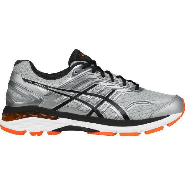 (取寄)アシックス メンズ GT-2000 5 ランニングシューズ Asics Men's GT-2000 5 Running Shoe Silver/Black/Hot Orange