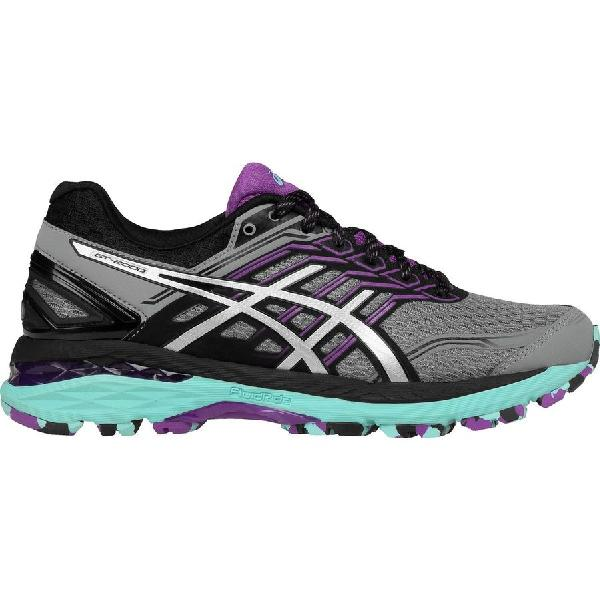 (取寄)アシックス レディース GT-20005トレイル ランニングシューズ Asics Women GT-2000 5 Trail Running Shoe Aluminum/Silver/Orchid