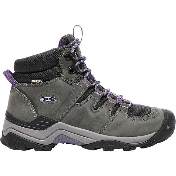 (取寄)キーン レディース ギプス 2 ミッド ハイキング ブーツ KEEN Women Gypsum II Mid Hiking Boot Earl Grey/Purple Plumeria