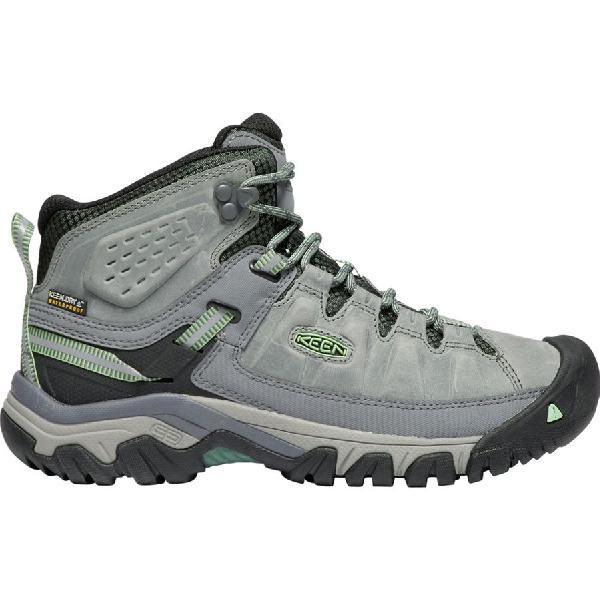 (取寄)キーン レディース ターギー 3 ミッド ハイキング ブーツ KEEN Women Targhee III Mid Hiking Boot Bleacher/Duck Green