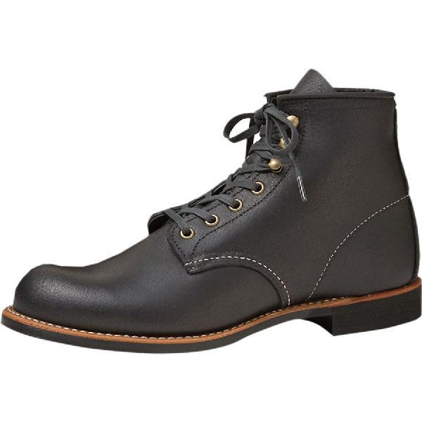 (取寄)レッドウィング メンズ ヘリテイジ 6in ラフネック ブーツ Red Wing Men's Heritage 6in Blacksmith Boot Black Spitfire 【コンビニ受取対応商品】