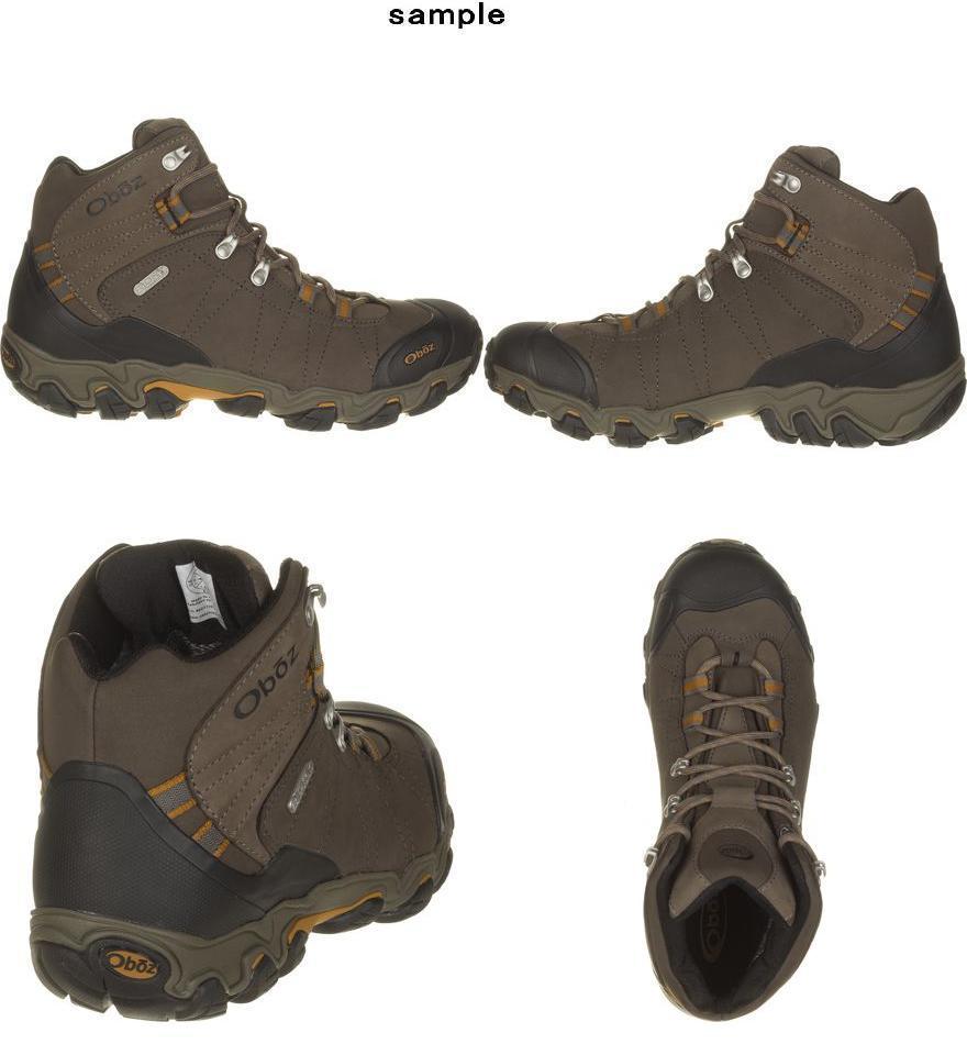 (취기) 오보즈멘즈브릿가밋드비드라이하이킹브트 Oboz Men's Bridger Mid BDry Hiking Boot Black