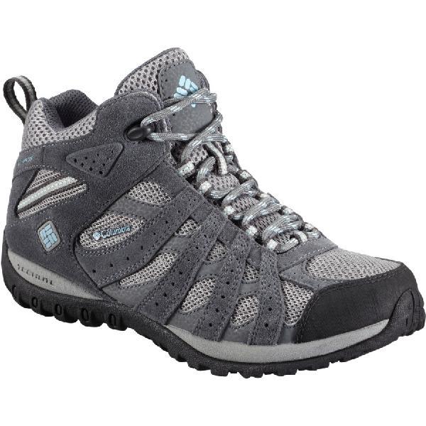 (取寄)コロンビア レディース レドモンド ミッド ハイキング ブーツ Columbia Women Redmond Mid Hiking Boot Light Grey/Sky Blue 【コンビニ受取対応商品】