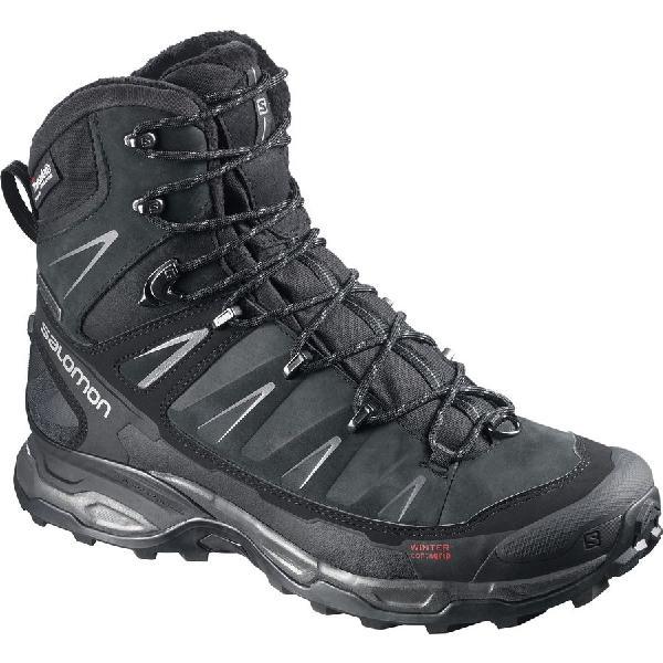 (取寄)サロモン メンズ X ウルトラ ウィンター CS WP ブーツ Salomon Men's X Ultra Winter CS WP Boot Black/Black/Autobahn 【コンビニ受取対応商品】