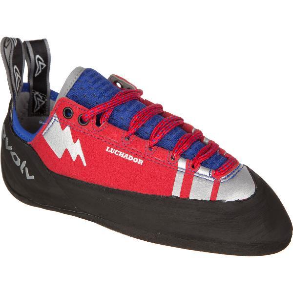 (取寄)イボルブ ルチャドール レース クライミング シューズ Evolv Men's Luchador Lace Climbing Shoe Red/Silver Accents