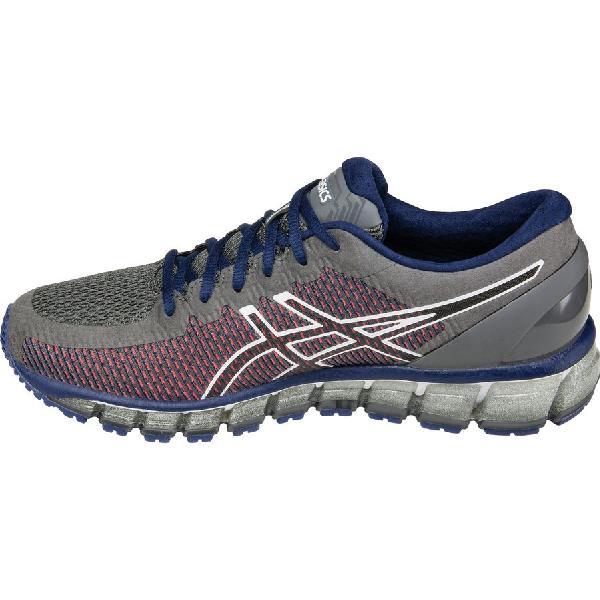 (取寄)アシックス メンズ Gel-Quantum360 2 ランニングシューズ Asics Men's Gel-Quantum 360 2 Running Shoe Carbon/White/Silver
