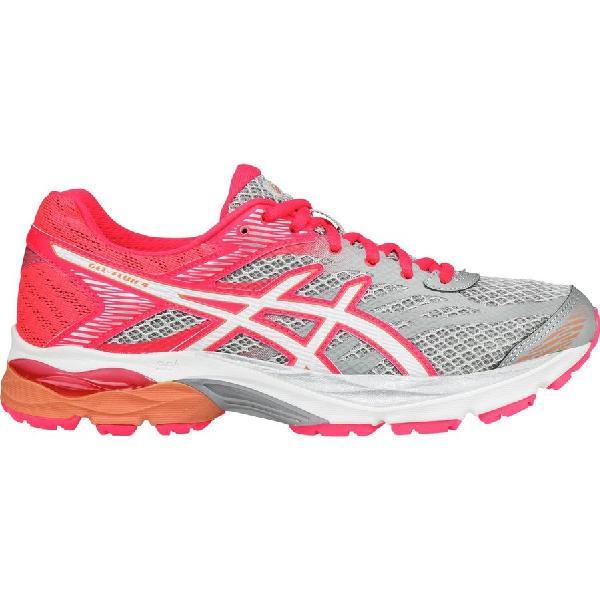(取寄)アシックス レディース Gel-Flux 4 ランニングシューズ Asics Women Gel-Flux 4 Running Shoe Midgrey/White/Diva Pink