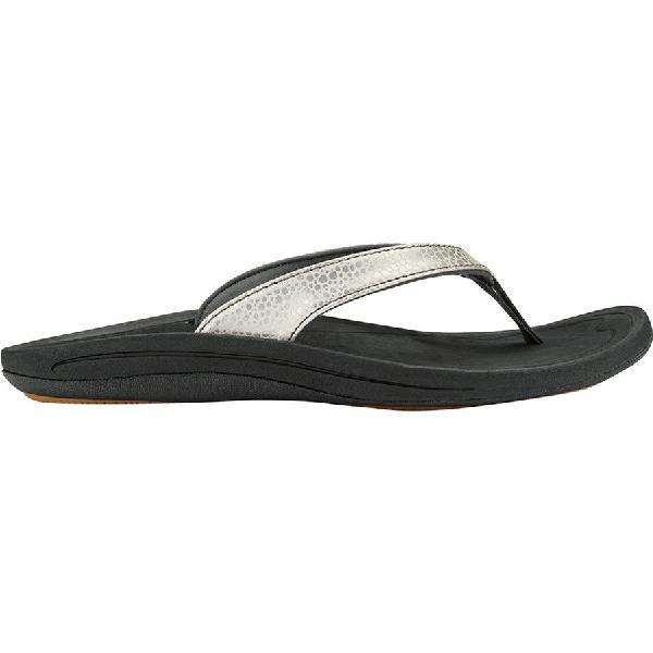 (取寄)オルカイ レディース Kulapa カイ フリップ フロップ Olukai Women Kulapa Kai Flip Flop Silver/Black