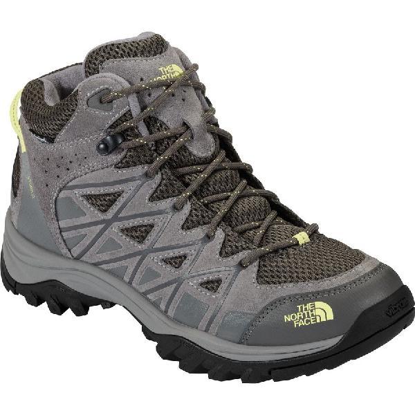 (取寄)ノースフェイス レディース ストーム 3 ミッド ハイキング ブーツ The North Face Women Storm III Mid Hiking Boot Dark Gull Grey/Chiffon Yellow
