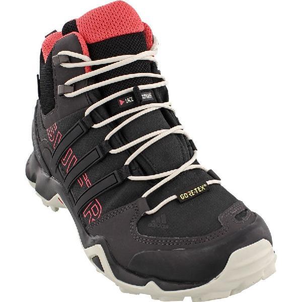 (取寄)アディダス レディース アウトドア テレックス スウィフト Rミッド GTX ハイキング ブーツ Adidas Women Outdoor Terrex Swift R Mid GTX Hiking Boot Black/Black/Tactile Pink