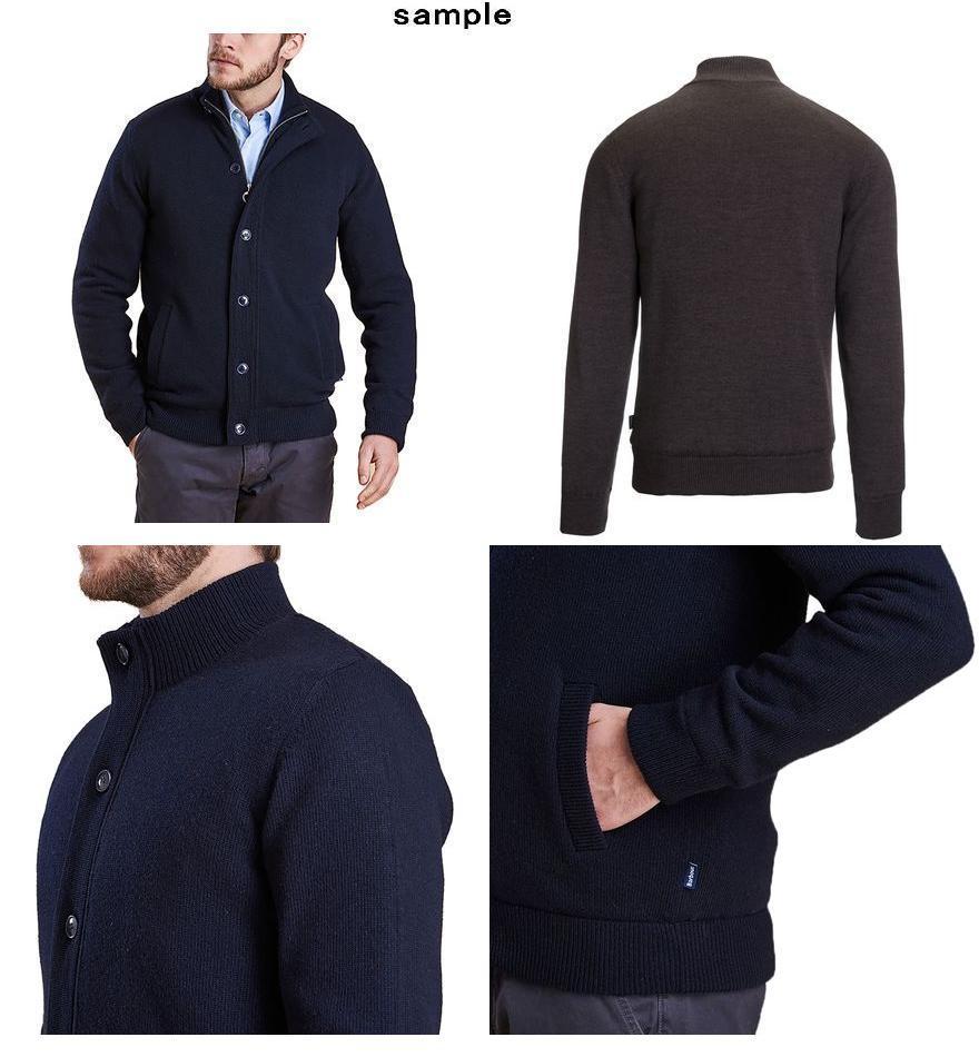 (취기) 바브아멘즈파르코나보탄스르세이타 Barbour Men's Falconer Button Through Sweater Storm Grey
