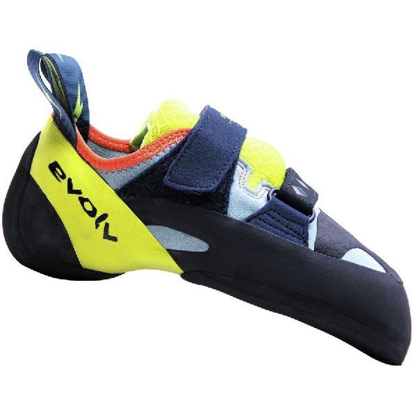 (取寄)イボルブ レディース シャクラ クライミング シューズ Evolv Women Shakra Climbing Shoe Aqua/Neon Yellow