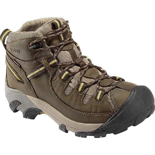 (取寄)キーン メンズ ターギー 2 ミッドワイド ハイキング ブーツ KEEN Men's Targhee II Mid Wide Hiking Boot Black Olive/Yellow