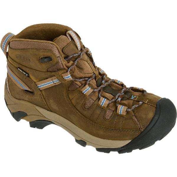 (取寄)キーン レディース ターギー 2 ミッド ハイキングシューズ KEEN Women Targhee II Mid Hiking Shoe Slate Black/Flint Stone