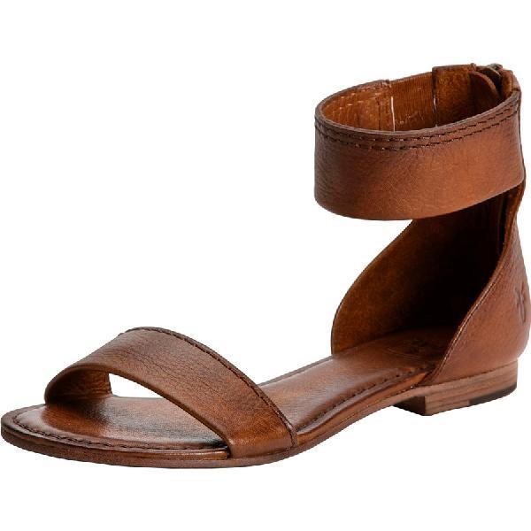 (取寄)フライ レディース カーソン アンクル ジップ サンダル Frye Women Carson Ankle Zip Sandal Cognac
