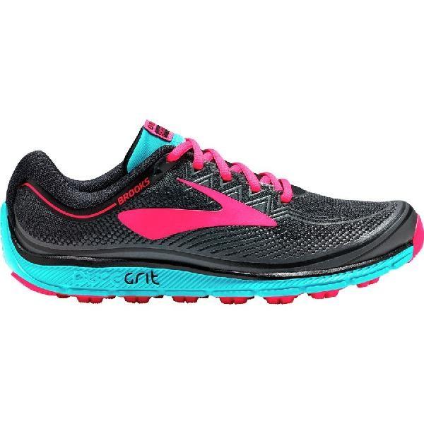 (取寄)ブルックス レディース ピュアグリット 6トレイル ランニングシューズ Brooks Women PureGrit 6 Trail Running Shoe Black/Ebony/Diva Pink