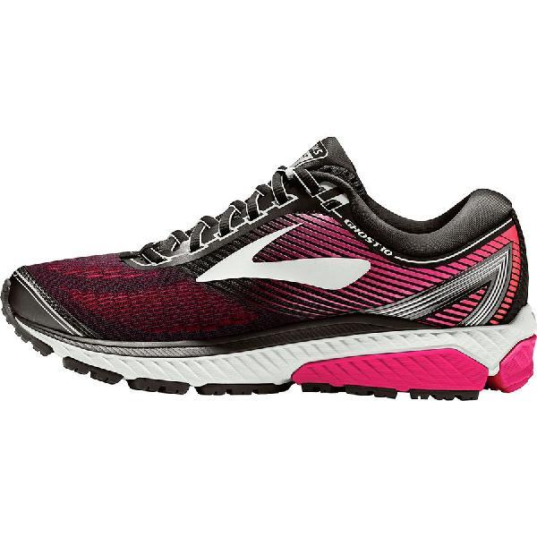 (取寄)ブルックス レディース ゴースト 10 ランニングシューズ Brooks Women Ghost 10 Running Shoe Black/Pink Peacock/Living Coral