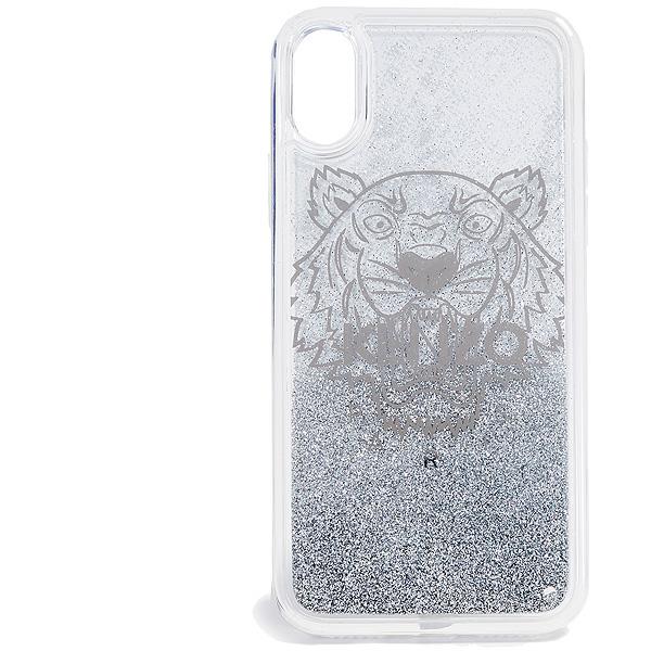 ケンゾー タイガー iPhoneケース シルバー アイフォン X / XS ケース KENZO Coque iPhone X / XS Tiger Case