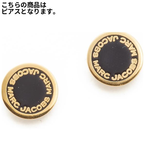 32f3ec01c Mark Jacobs logo pierced earrings black / gold Marc Jacobs Enamel Logo Disc  Stud Earrings ...