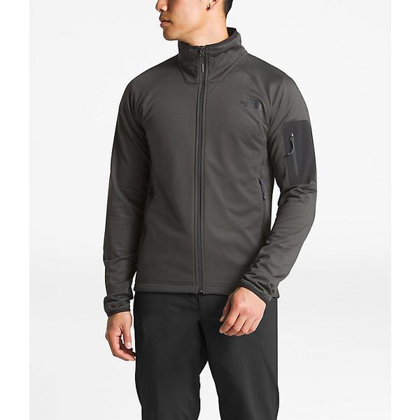 (取寄)ノースフェイス メンズ ボロード フル ジップ トップ The North Face Men's Borod Full Zip Top Asphalt Grey / TNF Black