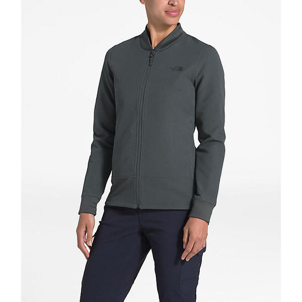 (取寄)ノースフェイス レディース テクノ リッジ フル ジップ ジャケット The North Face Women's Tekno Ridge Full Zip Jacket Asphalt Grey / Asphalt Grey