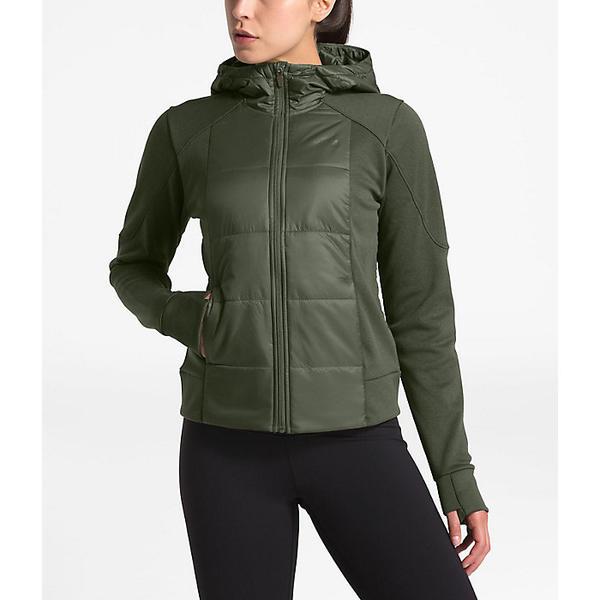 (取寄)ノースフェイス レディース モチベーション ハイブリット ショット ジャケット The North Face Women's Motivation Hybrid Short Jacket New Taupe Green / New Taupe Green Heather