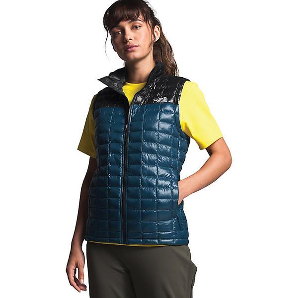 (取寄)ノースフェイス レディース サーモボール エコ ベスト The North Face Women's ThermoBall Eco Vest Blue Wing Teal / TNF Black 送料無料