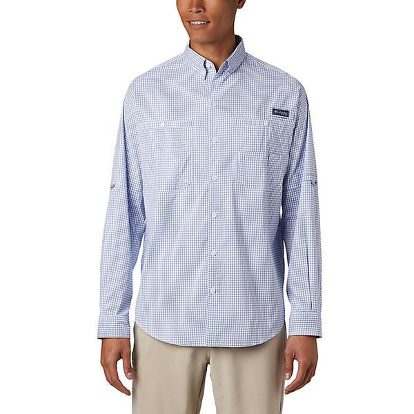 Columbia コロンビア シャツ トップス ストア ブランド カジュアル ストリート アウトドア 登山 NEW スポーツ メンズ 大きいサイズ ビックサイズ LS Super Men's Gingham スーパー Blue タミアミ Tamiami 取寄 Vivid Shirt ロングスリーブ