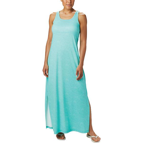 Columbia コロンビア ワンピース レディース オールインワン アウトドア 《週末限定タイムセール》 カジュアル ブランド 登山 取寄 フリーザー Dress マキシ ドレス Dolphin Women's Maxi Seaside Swirls Freezer Print 有名な
