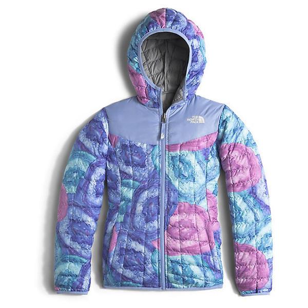 (取寄)ノースフェイス ガールズ リバーシブル サーモボール フーディ The North Face Girls' Reversible Thermoball Hoodie Grapemist Blue Crystal Print