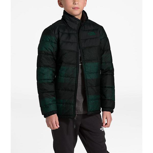 (取寄)ノースフェイス ボーイズ リバーシブル マウント チンボラソ ジャケット The North Face Boys' Reversible Mount Chimborazo Jacket Night Green Buff Check Print