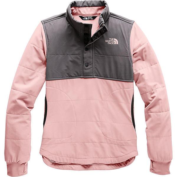 (取寄)ノースフェイス ガールズ マウンテン 1/4 スナップ スウェットシャツ The North Face Girls' Mountain 1/4 Snap Sweatshirt Pink Salt
