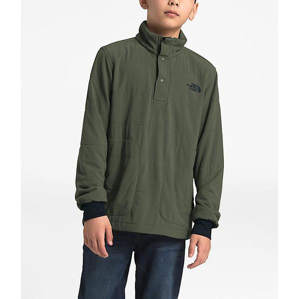 (取寄)ノースフェイス ボーイズ マウンテン 1/4 スナップ ネック スウェットシャツ The North Face Boys' Mountain 1/4 Snap Neck Sweatshirt New Taupe 緑
