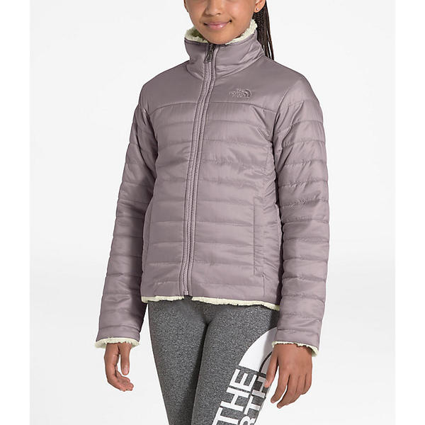 【クーポンで最大2000円OFF】(取寄)ノースフェイス ガールズ リバーシブル モスブッド スワール ジャケット The North Face Girls' Reversible Mossbud Swirl Jacket Ashen Purple