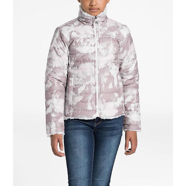 (取寄)ノースフェイス ガールズ リバーシブル モスブッド スワール ジャケット The North Face Girls' Reversible Mossbud Swirl Jacket Ashen Purple MTN Scape Print
