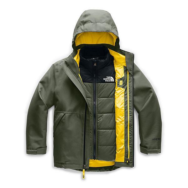 【クーポンで最大2000円OFF】(取寄)ノースフェイス ボーイズ フレッシュ トラック トリクライメイト ジャケット The North Face Boys' Fresh Tracks Triclimate Jacket New Taupe Green