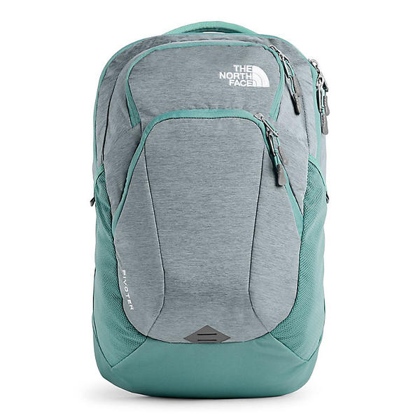 (取寄)ノースフェイス レディース ピボター バックパック The North Face Women's Pivoter Backpack Mid Grey Light Heather / Trellis Green
