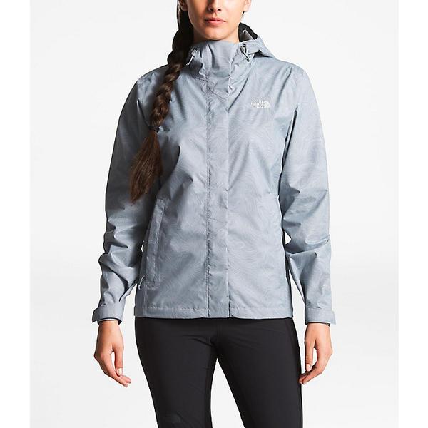 (取寄)ノースフェイス レディース プリント ベンチャー ジャケット The North Face Women's Print Venture Jacket Mid Grey Linear Topo Print