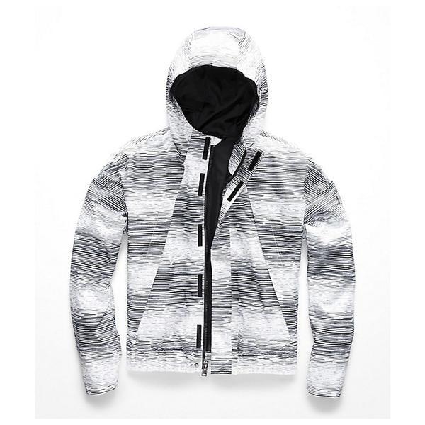 (取寄)ノースフェイス ガールズ プレスタ レイン ジャケット The North Face Girls' Precita Rain Jacket TNF White Distressed Stripe Print
