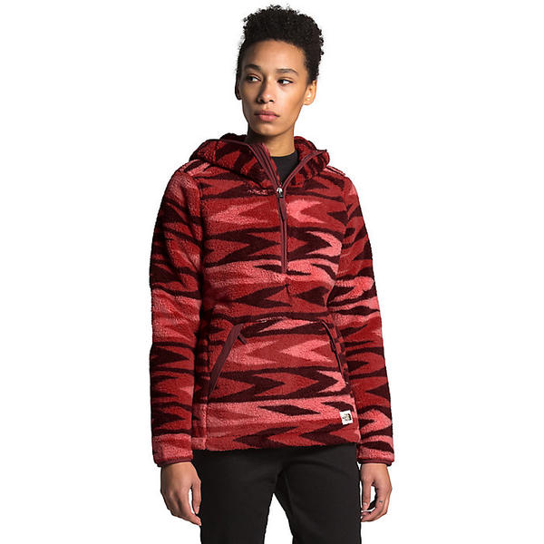 (取寄)ノースフェイス レディース キャンプシェア 2.0 プルオーバー フーディ The North Face Women's Campshire 2.0 Pullover Hoodie Sunbaked Red Arrow Stripe Print / Barolo Red