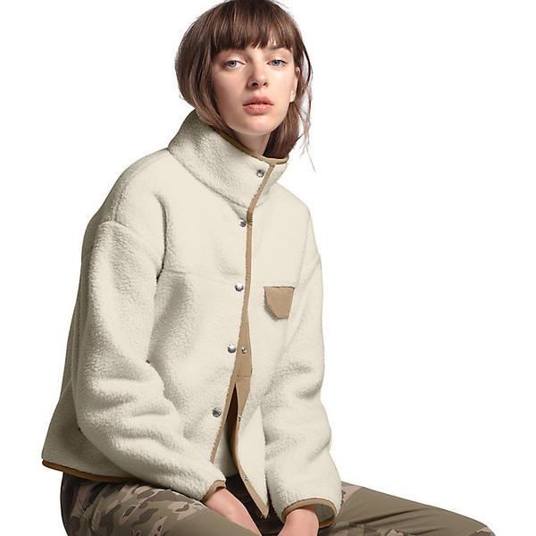 (取寄)ノースフェイス レディース クラグモント フリース ジャケット The North Face Women's Cragmont Fleece Jacket Vintage White / Kelp Tan