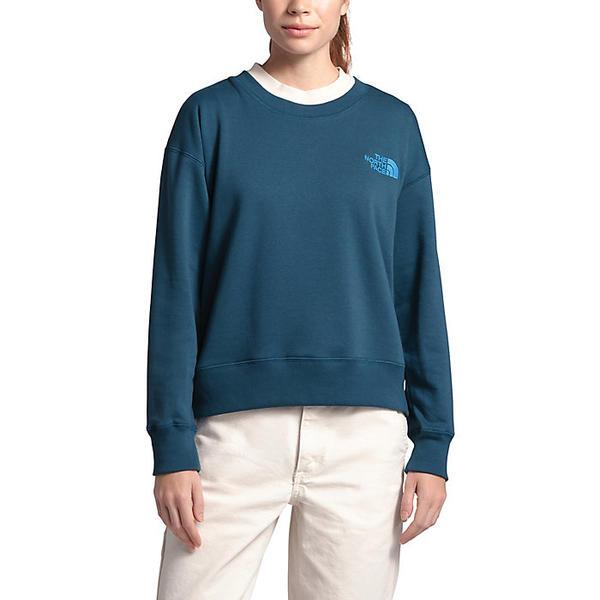 【クーポンで最大2000円OFF】(取寄)ノースフェイス レディース パークス スライトリー クロップド クルー The North Face Women's Parks Slightly Cropped Crew Blue Wing Teal
