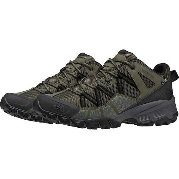 (取寄)ノースフェイス メンズ ウルトラ 111 ウォータープルーフ シューズ The North Face Men's Ultra 111 Waterproof Shoe New Taupe Green / TNF Black