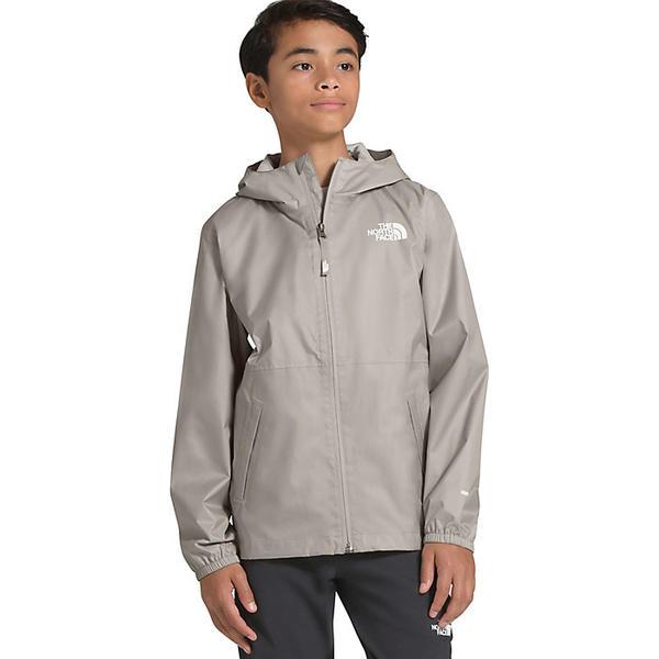 (取寄)ノースフェイス ユース ジップライン レイン ジャケット The North Face Youth Zipline Rain Jacket Dove Grey