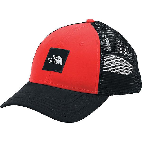 宅配便送料無料 The North Face ノースフェイス キャップ 予約販売品 帽子 Cap ブランド カジュアル ストリート アウトドア クーポンで最大2000円OFF ボックス トラッカー ロゴ Box TNF Trucker Black Logo Red 取寄 Fiery