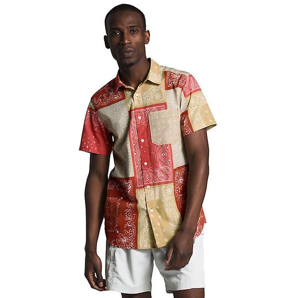 (取寄)ノースフェイス メンズ ベイトレイル パターン SS シャツ The North Face Men's Baytrail Pattern SS Shirt Sunbaked Red Bandana Renewal Multi Print